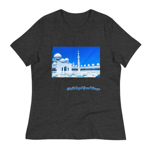 Dodger Blue Women's Sheikh Zayed Grand Mosque Relaxed T-Shirt