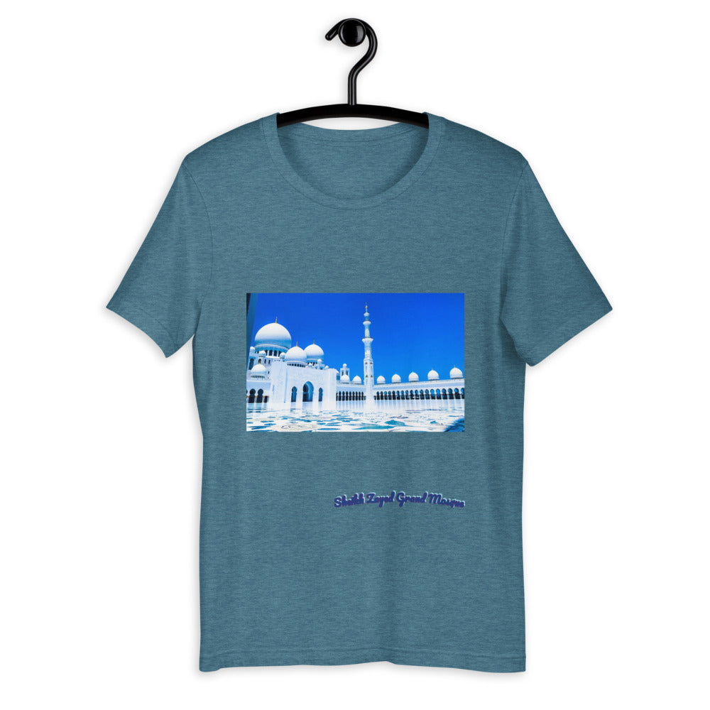 Slate Gray Men's Sheikh Zayed Grand Mosque Short-Sleeve T-Shirt
