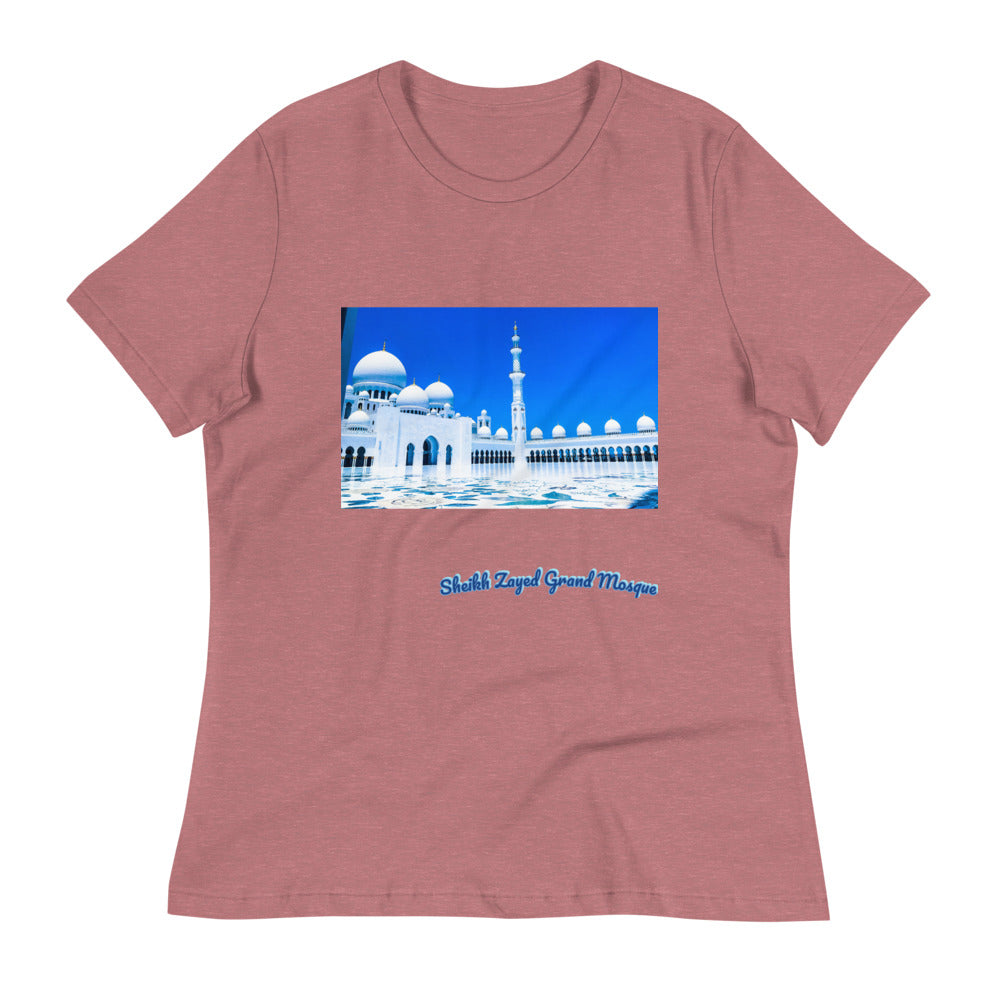 Rosy Brown Women's Sheikh Zayed Grand Mosque Relaxed T-Shirt