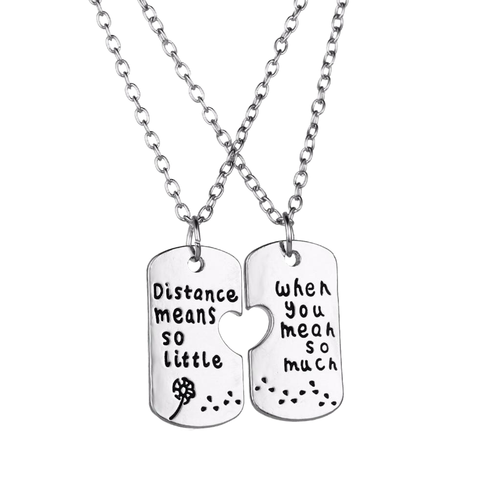Distance Means so Little Necklace - LDR Couples