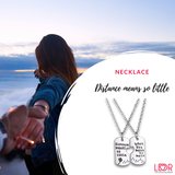 Distance Means so Little Necklace - LDR Couple Store