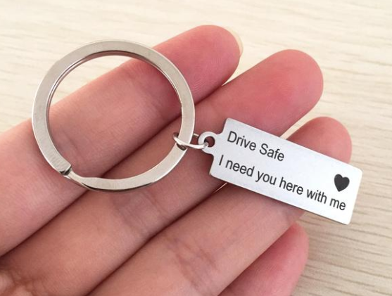 Drive Safe Keychain - LDR Couple