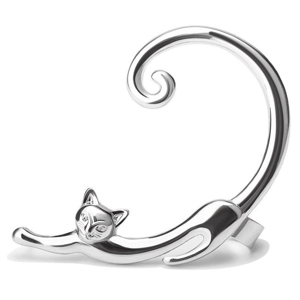 Cat Earring With Ear Cuff - Bflat Cat Store