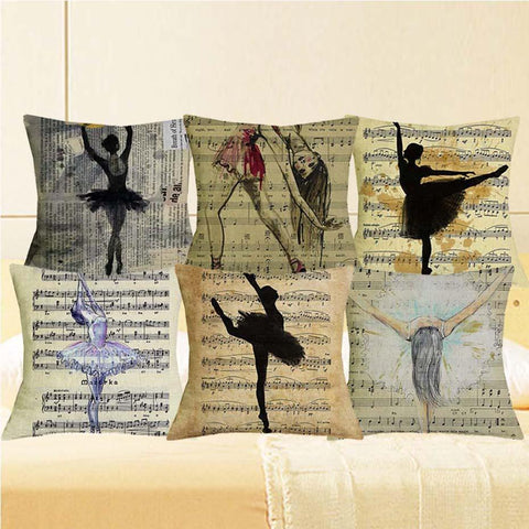 Ballet in Motion Pillow Case - Bflat Cat Store