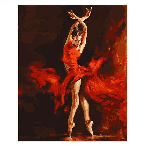 Fire Ballet Dancer - DIY Painting By Numbers - Bflat Cat Store