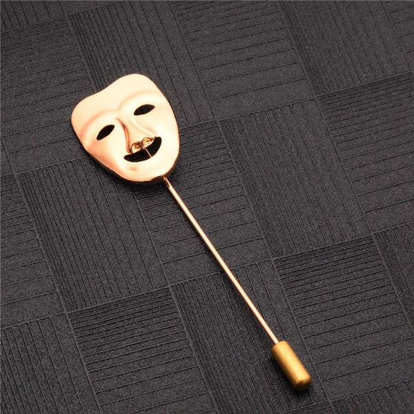 Happy Mask Brooch - Bflat Cat Store
