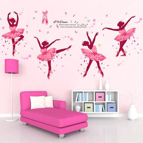 I Love Dance - Ballet Dancers Wall Stickers - Bflat Cat Store
