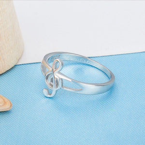 Silver Clef Ring - Bflat Cat Store