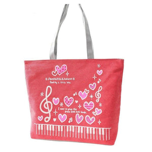 Music & Heart Handbag - Bflat Cat Store