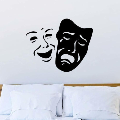 Masks of Comedy and Tragedy Wall Decal - Bflat Cat Store