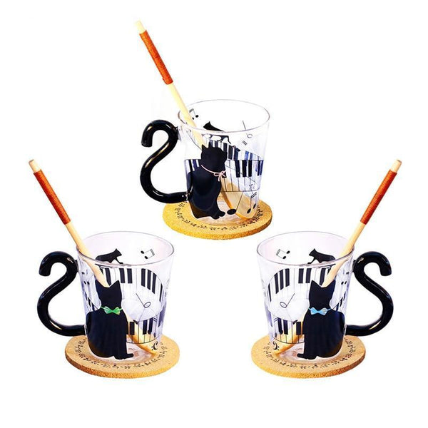 Kitty and Music Mug - Bflat Cat Store