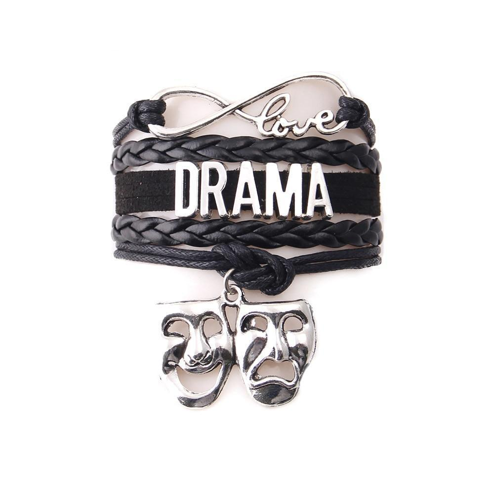We Love Drama - Charm Leather Bracelet - Bflat Cat Store