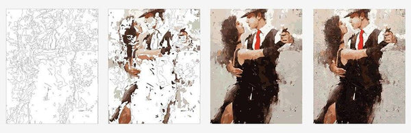 Passionate Tango - DIY Painting By Numbers - Bflat Cat Store