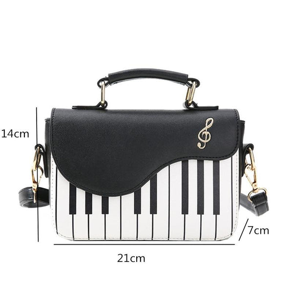 Piano Shaped Shoulder Bag - Bflat Cat Store