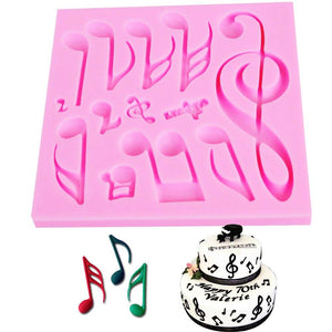 Music Note Silicone Mold - Bflat Cat Store