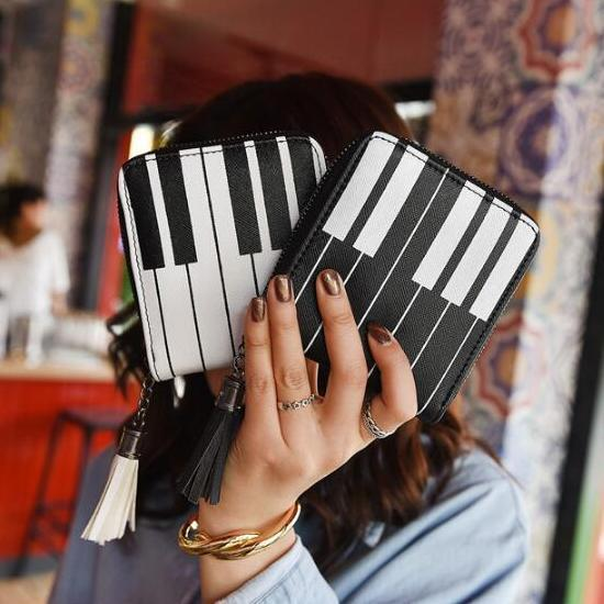 Piano Keys Wallet - Bflat Cat Store