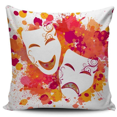 Theater Mask Cushion Cover - Bflat Cat Store