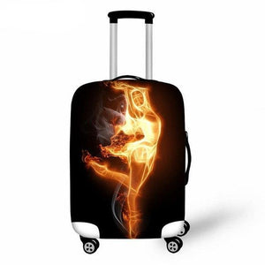 Ballet Printing Suitcase Protector Cover - Bflat Cat Store