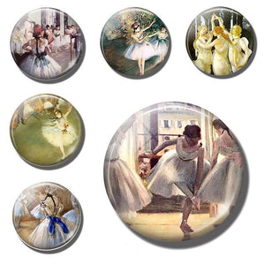 Ballerinas Art Fridge Magnet - Bflat Cat Store
