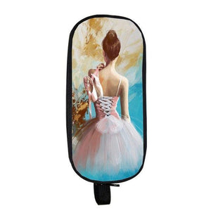 Ballerina Themed Cosmetic Cases and Pencil Holder - Bflat Cat Store