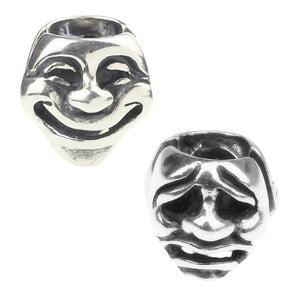 Silver Theater Mask Charm Bracelet Troll - Bflat Cat Store