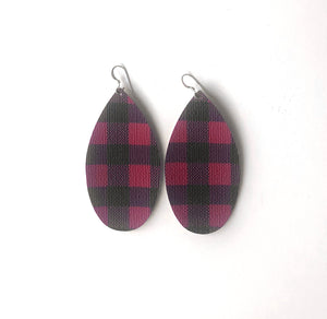 Red Buffalo Plaid Long Pear