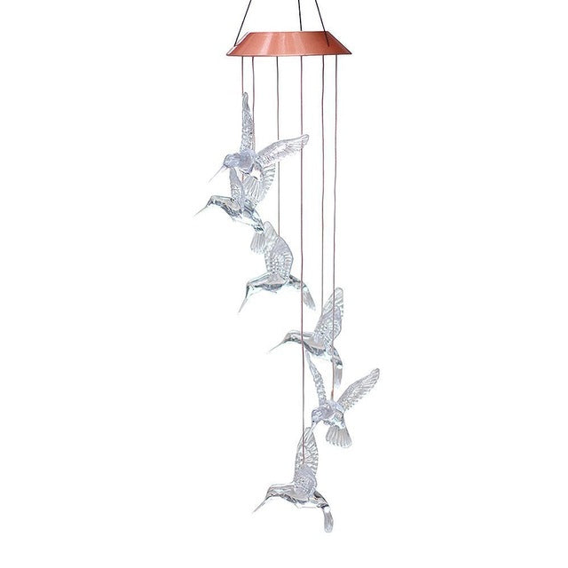 LED Hummingbird Solar Powered Chime