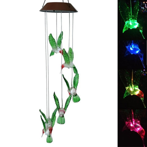 Image of LED Hummingbird Solar Powered Chime