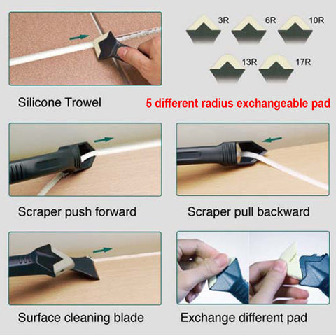 3 in 1 Silicone Caulking Tool Kit