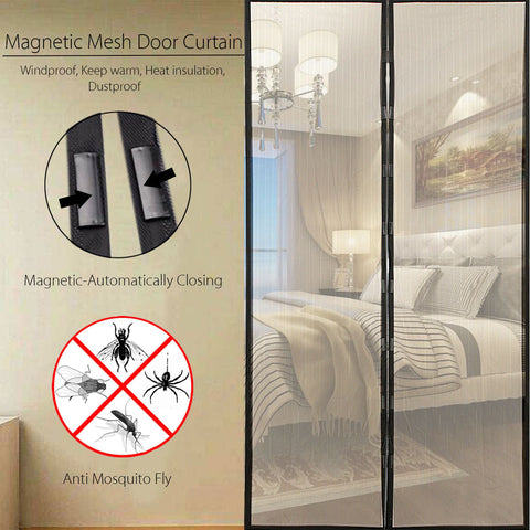 Image of Anti Insect Curtains – Magnetic Mesh Net with Automatic Closing