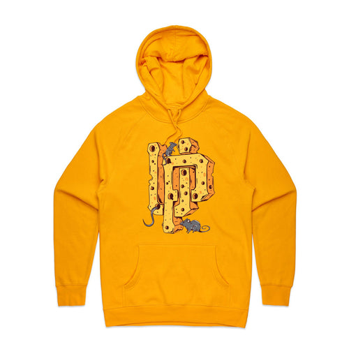 Cheese UP Logo Yellow Hoodie