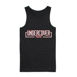White Undercover Logo Black Tank Top