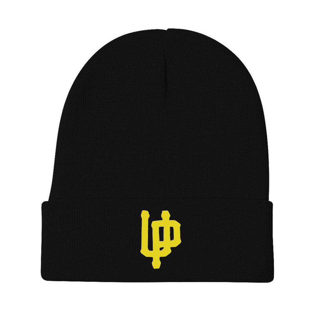 Yellow UP Logo Black Beanie