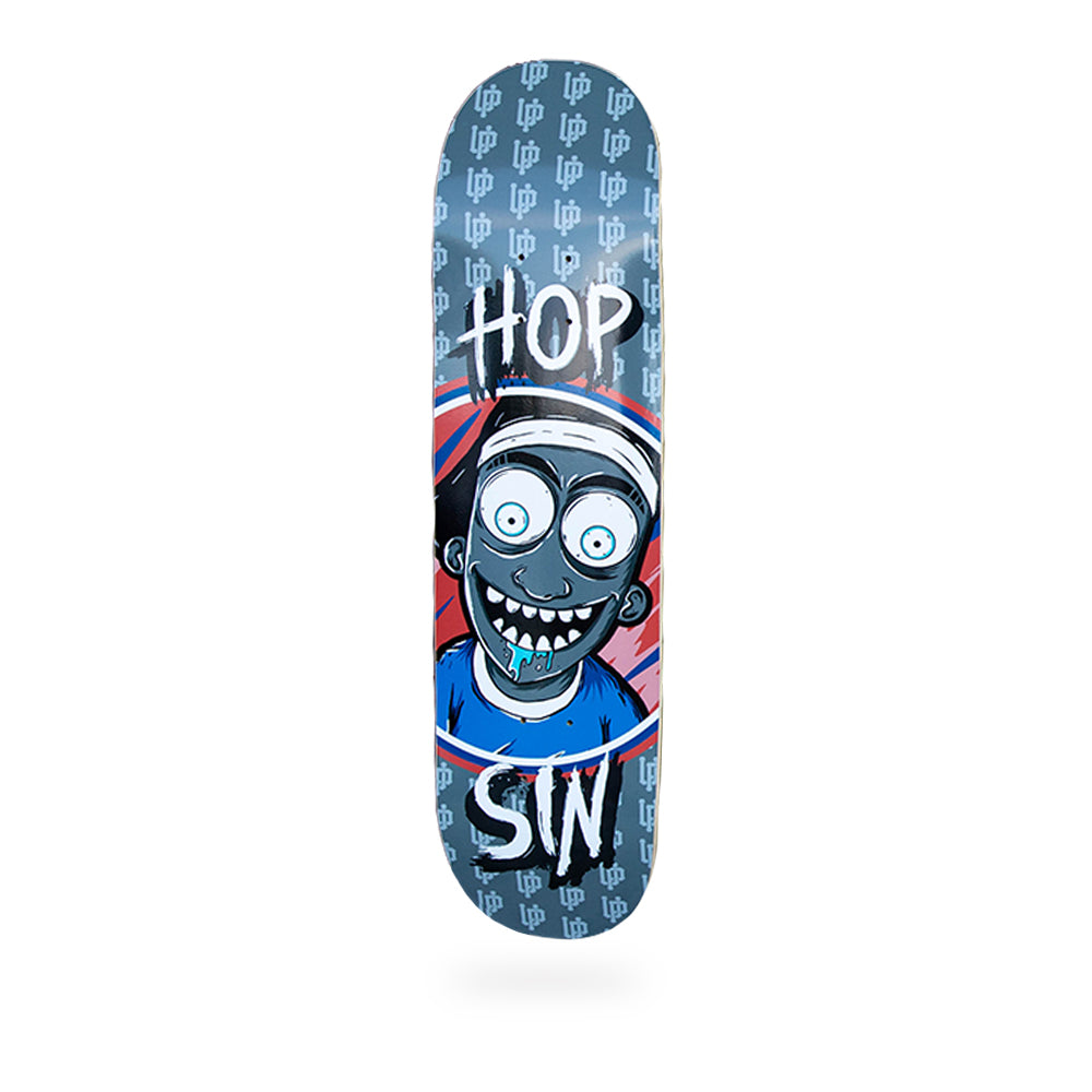 An image of the Blue Cartoon Hopsin Skate Deck.