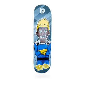 An image of the Blue Hopsin Skate Deck.