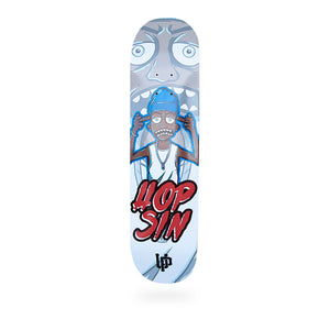 An image of the Cartoon Hopsin Middle Finger skate deck