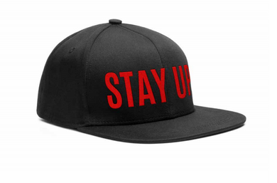 An image of our black snapback with