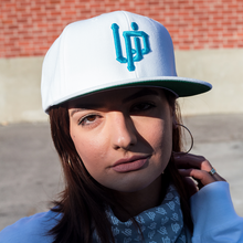 Load image into Gallery viewer, UP Logo Snapback Blue - White
