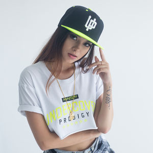 White UP Logo Lime Bill Snapback