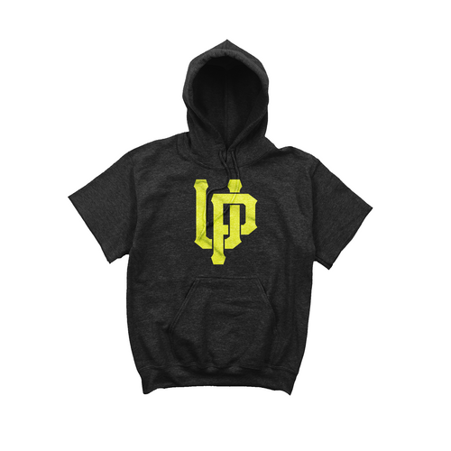 Lime UP Logo Black Short Sleeve Hoodie
