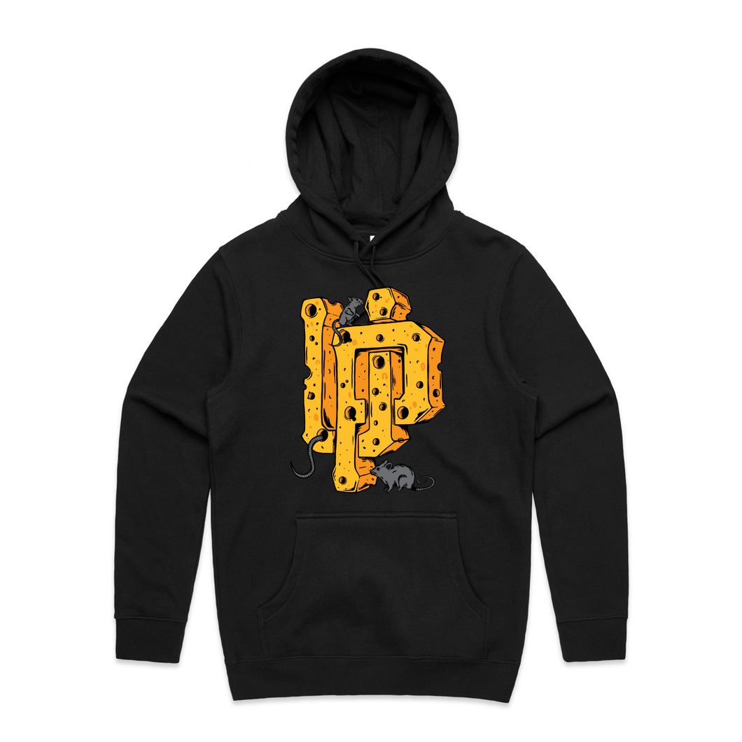 Cheese UP Logo Black Hoodie