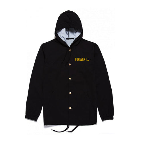Forever Ill Black WindBreaker in Gold