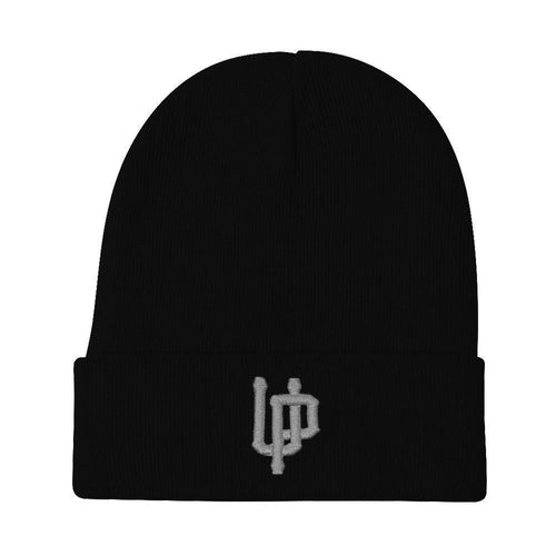 Gray UP Logo Black Beanie