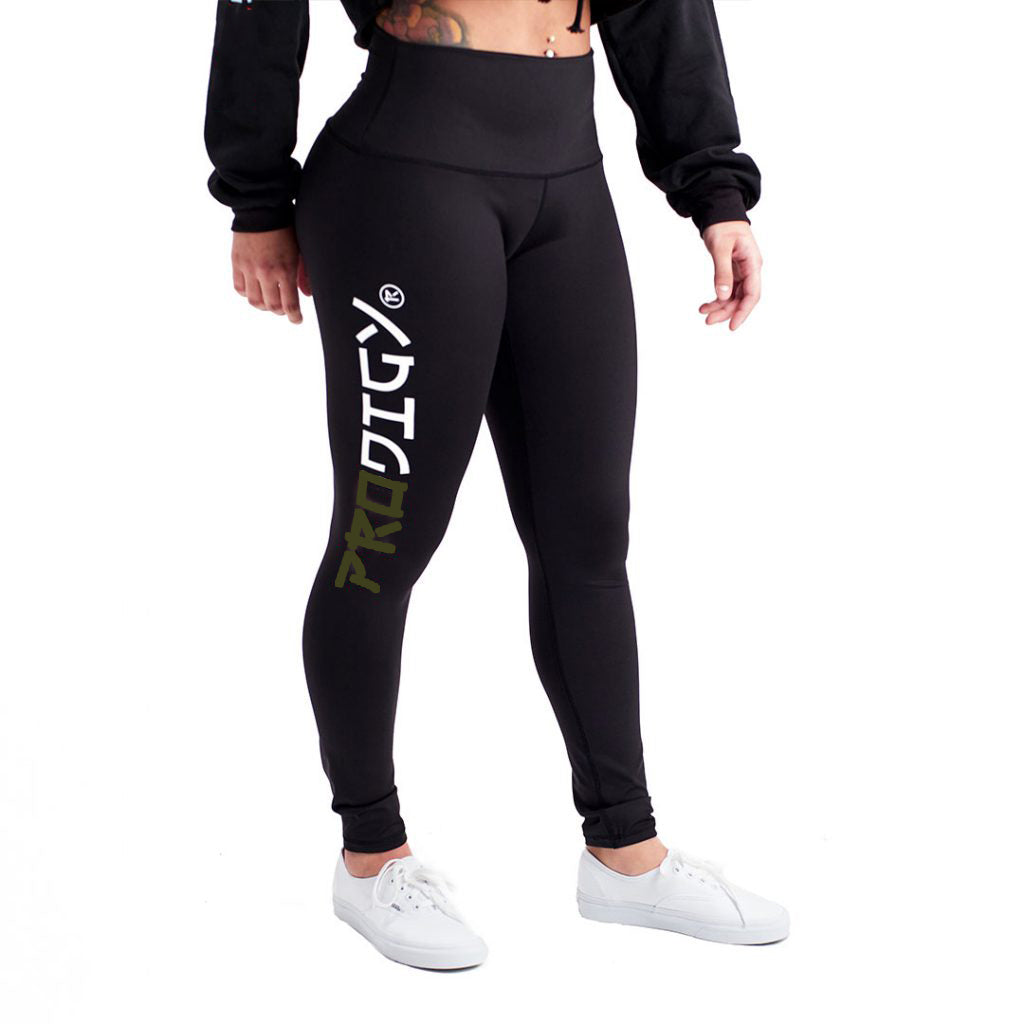 Womens Prodigy Leggings Green Wave
