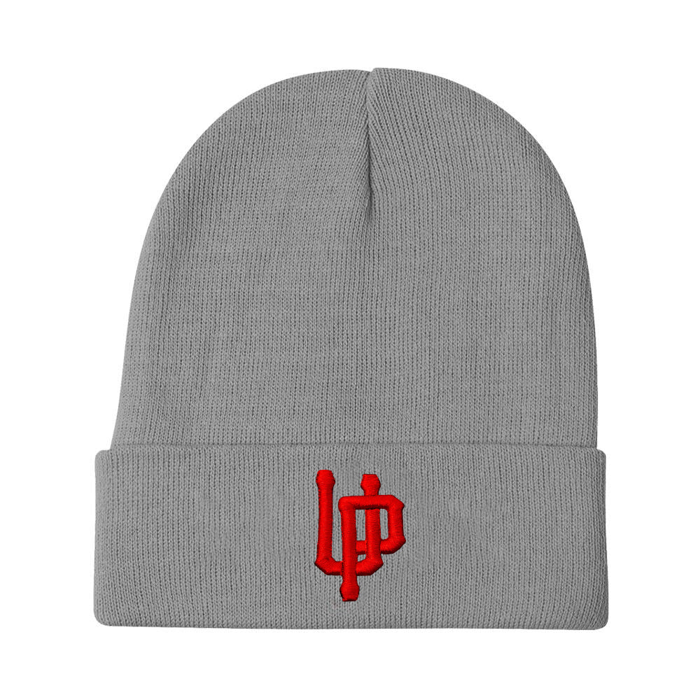 Red UP Logo Gray Beanie