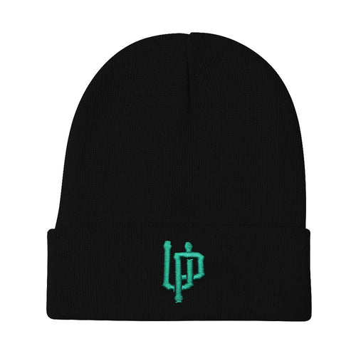 Green UP Logo Black Beanie