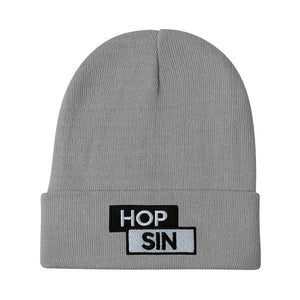An image of our B&W Hopsin Block Logo Beanie.