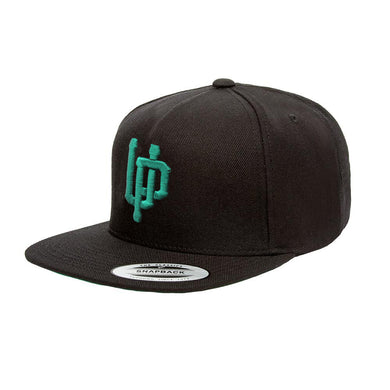 Green UP Black Snapback
