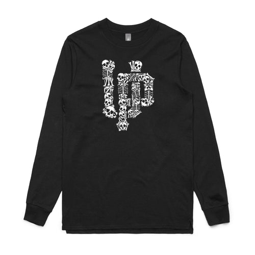 Skull UP Black Long Sleeve Shirt