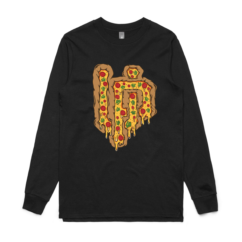 UP Pizza Logo Black Long Sleeve